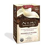 Numi Organic Tea Magnolia Puerh, Full Leaf Green Tea, 16-Count Tea Bags (Pack of 2) ~ Numi