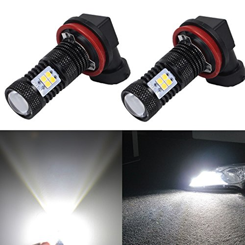 JDM ASTAR Extremely Bright 3030 Chipsets H11 H8 LED Bulbs for DRL or Fog Lights, Xenon White (Jdm Parts Toyota compare prices)