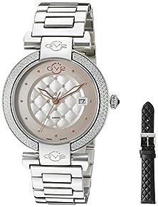 buy Gv2 By Gevril Women'S 1500 Berletta Analog Display Swiss Quartz Silver Watch