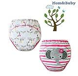 Mom&Baby Comfort Train ** Braga de aprendizaje reutilizables / Potty Training Pants ** niña de 2-3 años ( Pack de 2 unidades )