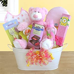 new arrival baby girl gift basket baby shower gift idea