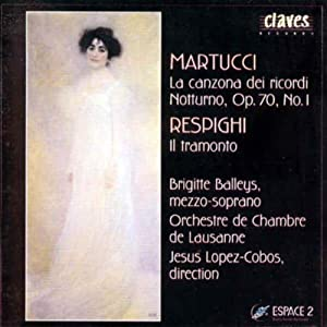 Martuccirespighi Vocal Works from Claves