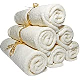 """Smiling GaiaBaby Washcloths, Bamboo Towels, Luxury (6pack 10.6"""") Organic.Best For Reusable Baby Wipes, Cloth Wipes..."""