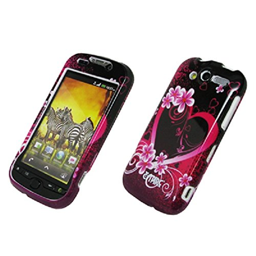 EMPIRE Exotic Heart Flower Design Snap-On Cover Case for T-Mobile HTC myTouch 2010