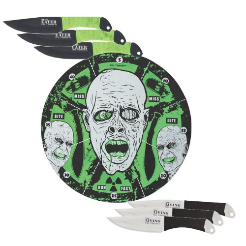 United Cutlery XL1530 Zombie Meltdown Neon Target & Throwing Set