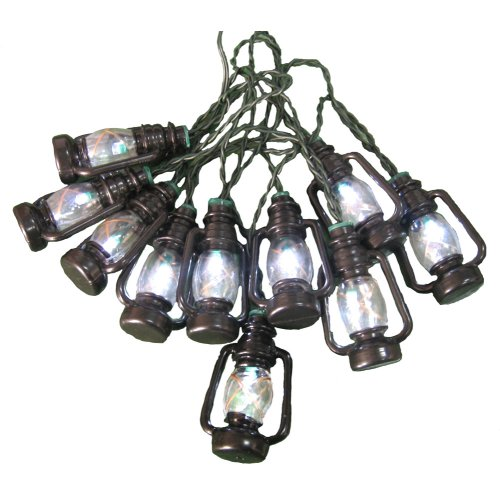 Battery-Operated 10 white LED Lantern String Lights