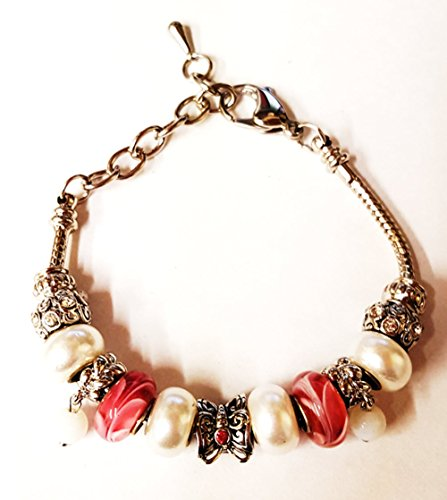 bella-perlina-collection-pandora-style-bracelet-9-snake-chain-interchangeable-beads-pink-butterfly-b