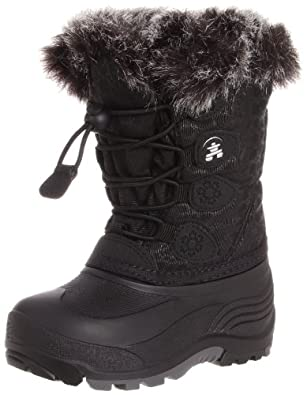 Kamik Snowgypsy Pull-On Winter Boot (Toddler/Big Kid),Black,8 M US Toddler