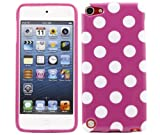 ITALKonline ProGel PURPLE WHITE POLKA DOT Super Hydro Gel TPU Protective Armour/Case/Skin/Cover/Shell for Apple iPod Touch 5 5G (5th Generation) 8GB, 32GB, 64GB - Solid Black