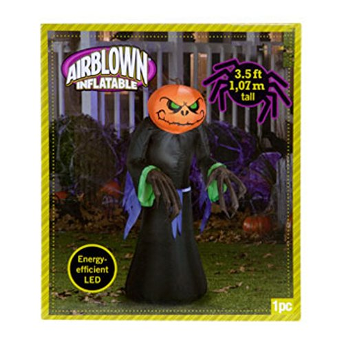 Airblown Inflatable Halloween Pumpkin-Head Reapers With Leds, 3½ Ft. Indoor Or Outdoor