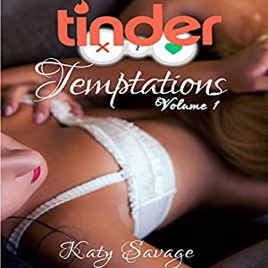 Tinder Temptations - Volume 1: A Steamy First Time Lesbian Bisexual Romance Menage FFM Audiobook