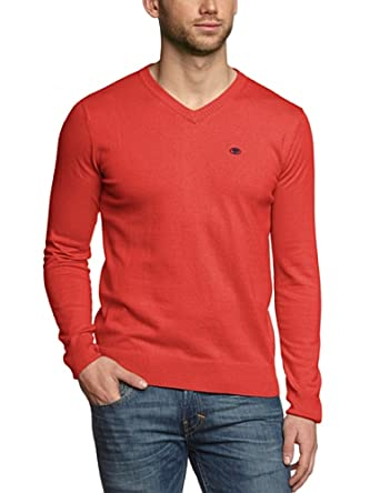 Tom Tailor - Pull - Manches Longues Homme - Rouge - Rot (Intense Red Melange) - FR : XX-Large (Taille Fabricant : XXL) (Brand size : XXL)