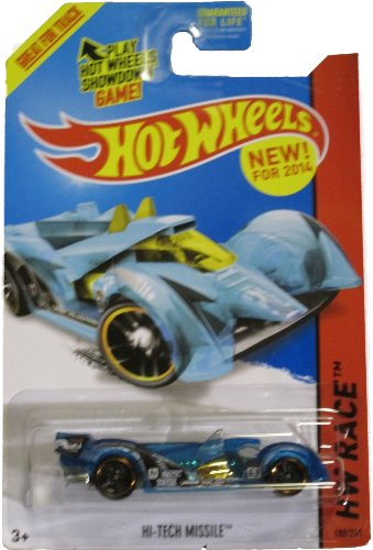Hot Wheels 2014 Hw Race X-raycers Blue Hi-Tech Missile 180/250 - 1