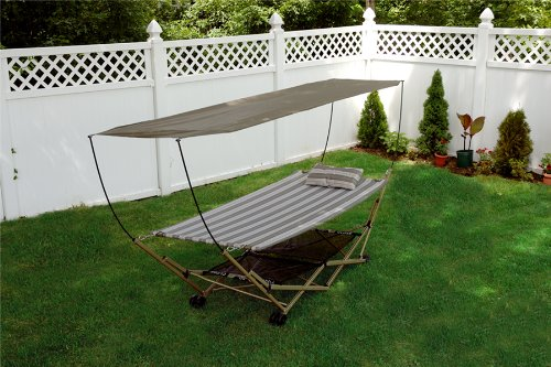 Bliss Hammocks BH-805C Foldable Hammock and Stand with Canopy