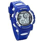 JewelryWe キッズ腕時計 ファッション カジュアル ビジネス ナイロンベルト アナログ スポーツ デジタル アラームストップ 誕生日 プレゼント 子供の日 ギフト