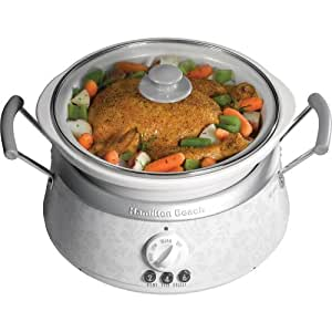 Hamilton Beach 33133H 3-in-1 Slow Cooker, White