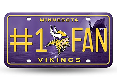 Minnesota Vikings Mirror License Plate With Laser Cut Acrylic Logo