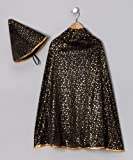 Black Magician Cape and Hat with Gold Stars