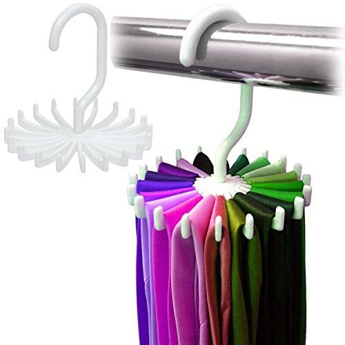 BlueBeach tourbillon Tie Rack réglable à 360 degrés rotation ceinture écharpe titulaire crochet de suspension pour range-placard de rangement