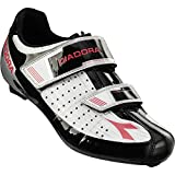 Diadora Phantom Cycling Shoes - Women's White/Black/Fuxia Red, 40.0