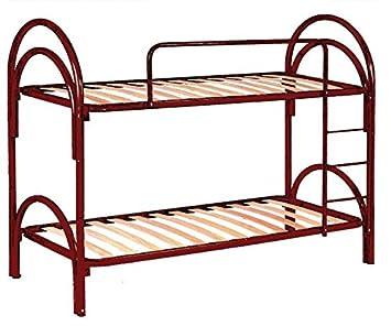 Litera metálica rojo cm 80x190 (total 80x205x155) con escalera para acceso a la cama superior