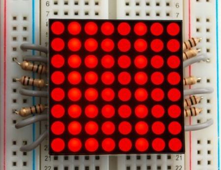 """1.2"""" 8X8 Red Led Matrix"""
