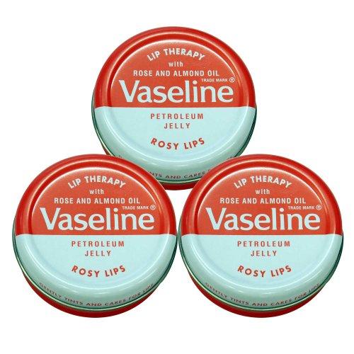 Vaseline Lip Therapy ヴァセリン 20g Rose 3個セット 3pcs set