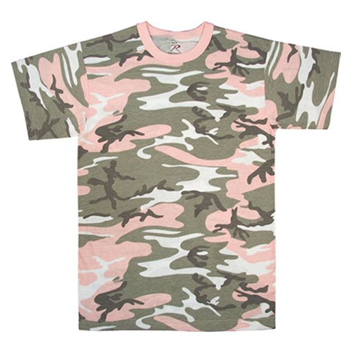 8681 SUBDUED PINK CAMOUFLAGE T-SHIRT SMALL