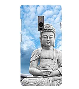 Buddha 3D Hard Polycarbonate Designer Back Case Cover for OnePlus 2 :: OnePlus Two :: One +2