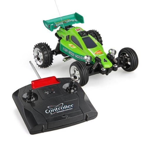 Mini 1:43 Rc Radio Remote Control Rtr Racing Car Kart Buggy Kid Gift Green