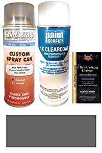 1993 Mitsubishi Diamante Armor Charcoal Gray Pearl H66 Touch Up Paint Spray Can Kit - Original Factory OEM Automotive Paint - Color Match Guaranteed