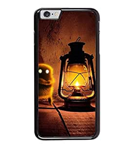 Fuson Premium 2D Back Case Cover Lanther With blue Background Degined For Apple iPhone 6S Plus