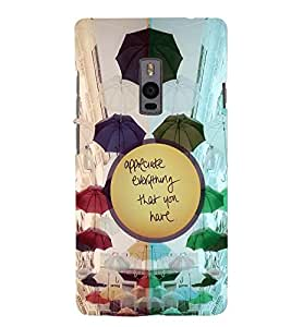 PRINTSWAG TEXT Designer Back Cover Case for ONE PLUS TWO