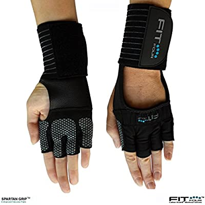 The Spartan Grip - with Enhanced Silicone Palm | Fit Four Callus Guard Workout Gloves for Weight Lifting & Cross Training Athletes from Fit Four LLC