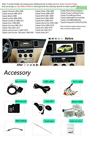 YINUO-2DIN-Toyota-universal-Autoradio-Moniceiver-695-Zoll-GPS-Navigation-mit-Bluetooth-DVD-Player-IPOD-und-USB-SD-Funktion-Rckfahrkamera