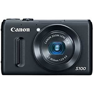Canon Powershot S100 12.1 Mp Digital Camera With 5x Wide-angle Optical Image Stabilized Zoom Black