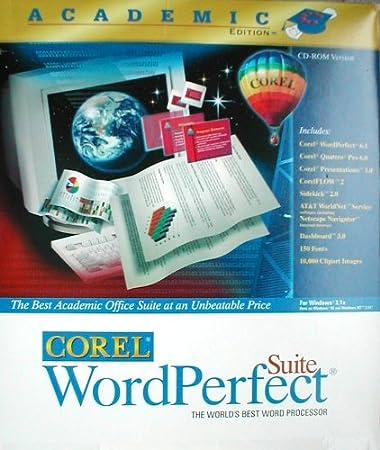 Corel Wordperfect 6.1 Suite - Academic Edition