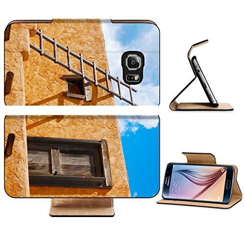 Liili Premium Samsung Galaxy S6 Edge Flip Pu Leather Wallet Case Ladder on a Southwest style stucco building in New Mexico Photo 5582368 Simple Snap Carrying