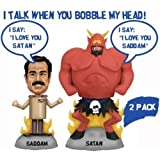 Talking Saddam and Satan Wacky Wobbler Set ~ FunKo