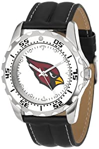 Game Time Mens NFL-WWG-ARI Arizona Cardinals Round Analog Strap Watch and Wallet Set by Game Time