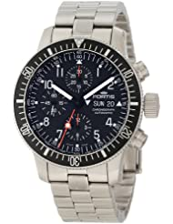 Fortis Men's 638.10.11M B-42 Official Cosmonauts Automatic Chronograph Black Dial Watch