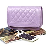 BMC-Womens-Solid-Color-PU-Leather-Diamond-Quilted-Pattern-Mini-Handbag-Clutch