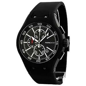 Momo Design Vanguard Black Carbon Fiber Black Rubber Strap Mens Watch 1001BK-RB-01FCBK
