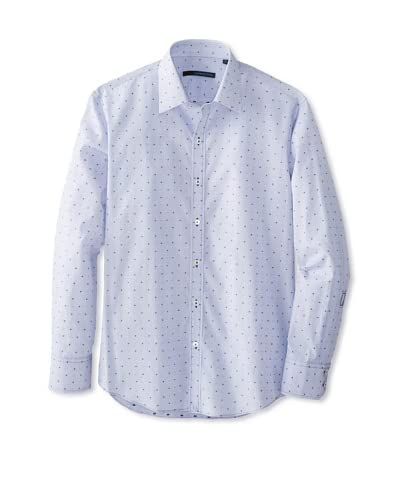 Zachary Prell Men's Alcala Dotted Long Sleeve Shirt