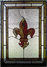 Stained Glass Fleur de Lis