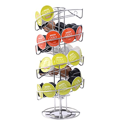 Spiral 30 Capsule Coffee Pod Holder Tower Rotate Stand Storage Rack New (Keurig Coffee Carosel compare prices)