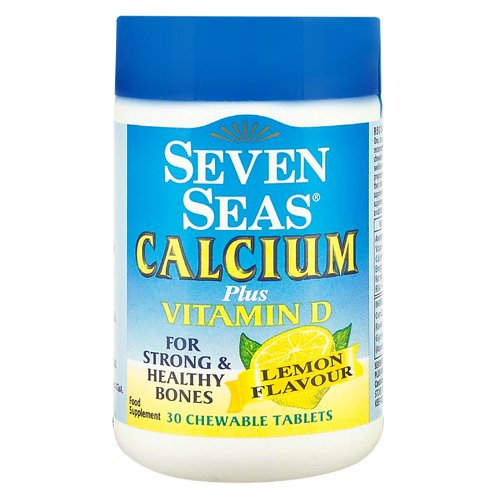Seven Seas Calcium Plus Vitamin D Lemon Flavour 30 Chewable Tablets