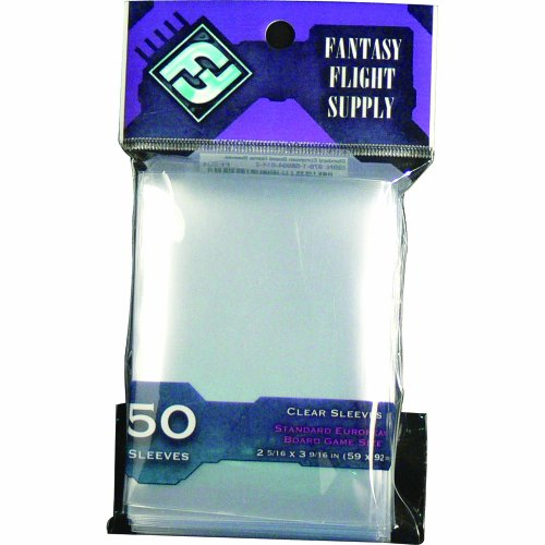 Clear Sleeves: Standard European Board Game Pack (50 Sleeves) - 1