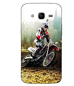 Snazzy Racing Bike Printed Multicolor Hard Back Cover For Samsung Galaxy J2 2016 Edition / J2 Pro