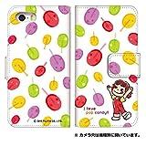 スマホゴ [Xperia A4 SO-04G] 手帳型 カード収納付き スマホケース 0162-A. ポップキャンディ